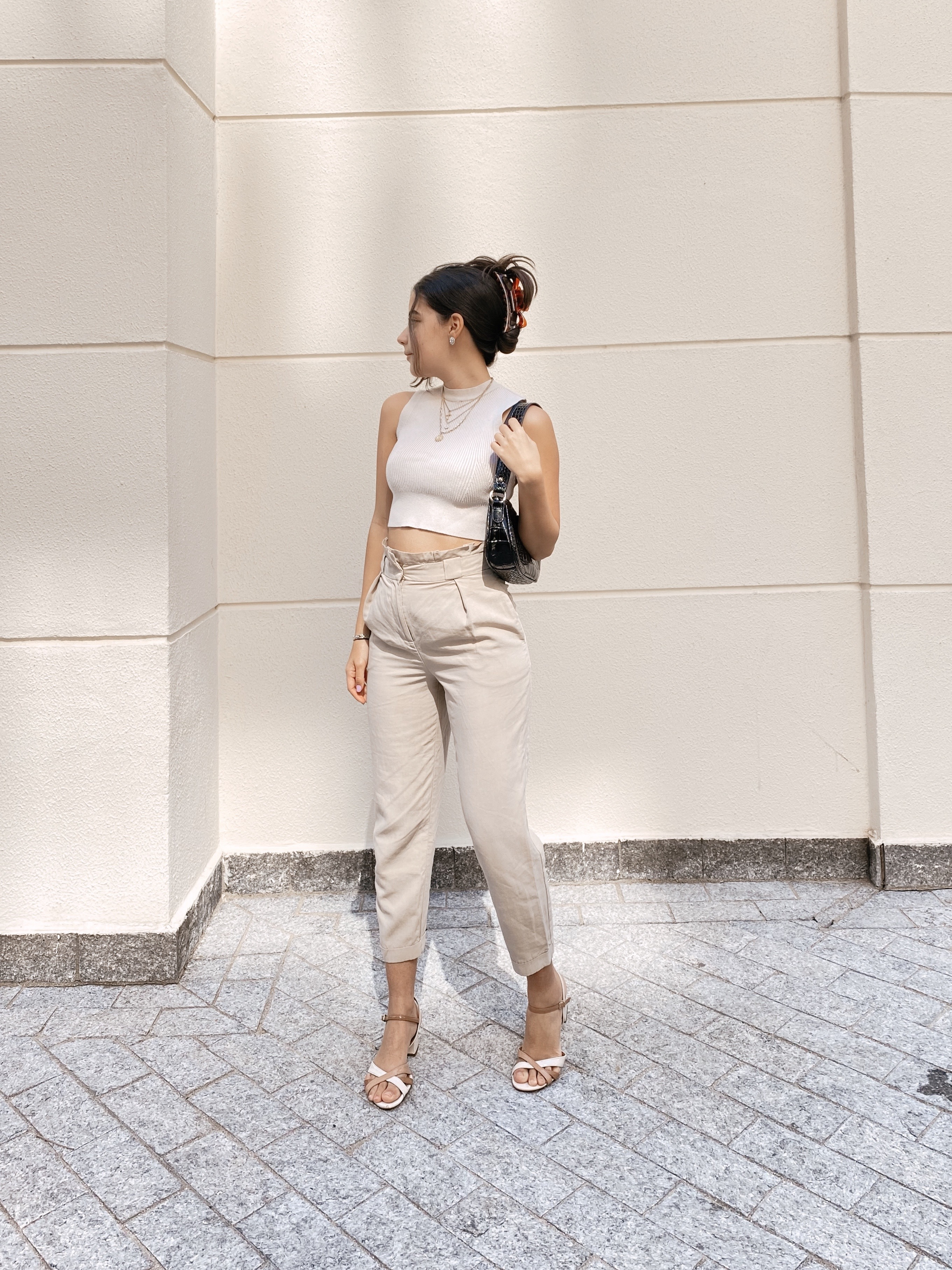 Monochromatic Outfit Beige Aesthetic Miss Mingrone
